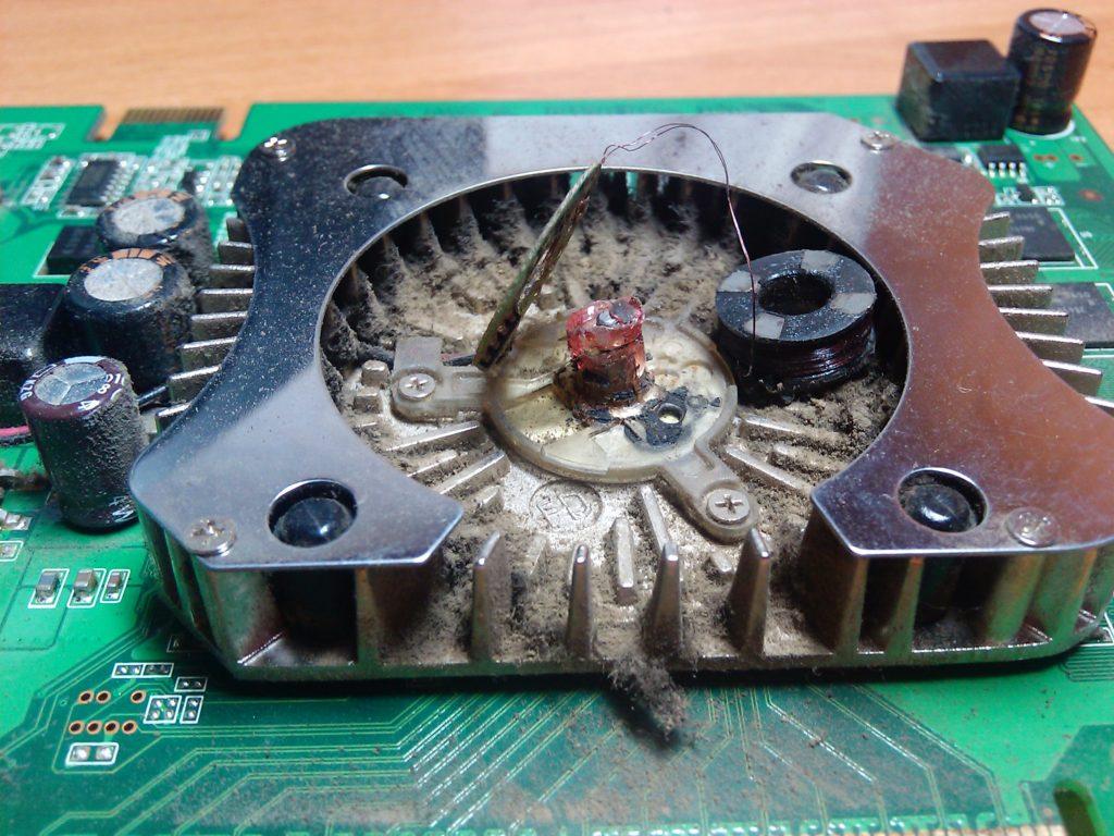 сломался кулер видеокарты