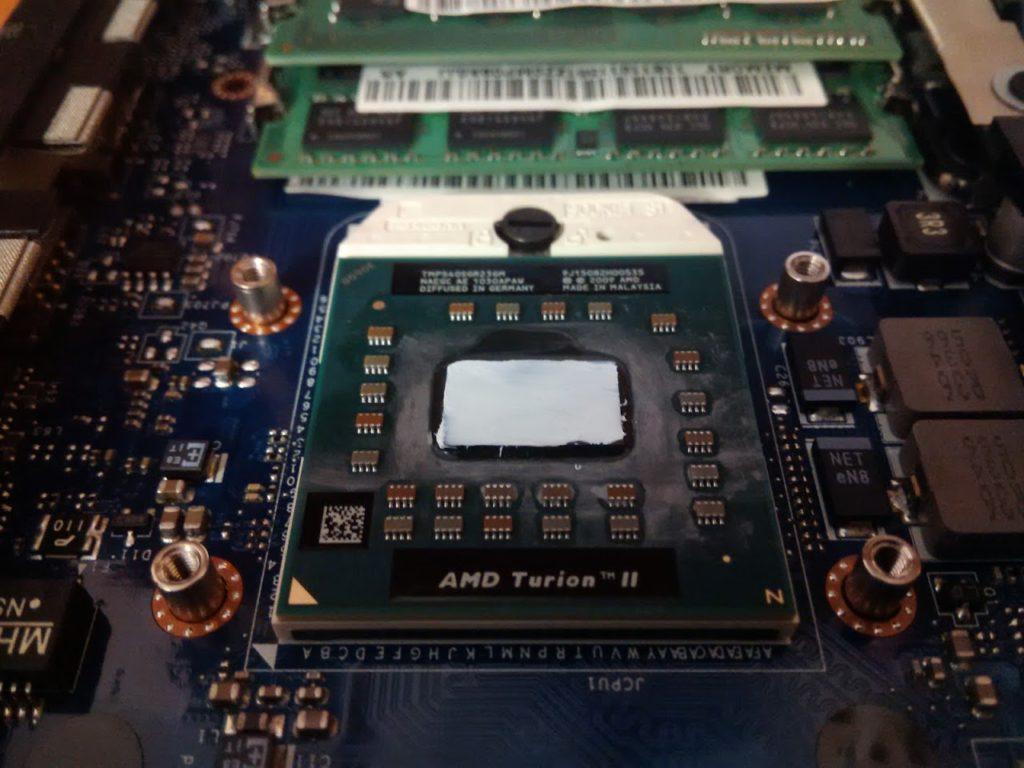 замена термопасты на процессоре ноутбука
